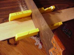 how to use a miter box to cut trim