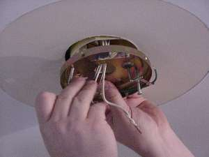 Ceiling fan installation attaching bracket to junction box aloadofball Choice Image