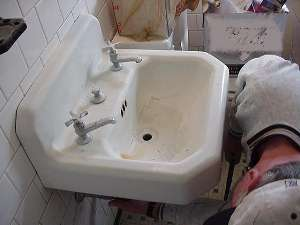 Old Sink To Be Replaced