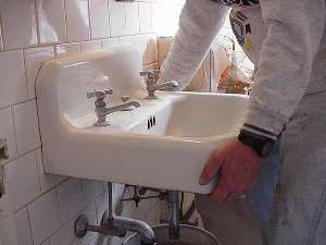 Remove Old Sink