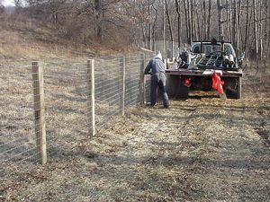 Installing Fence Posts And Board Fencing Wire